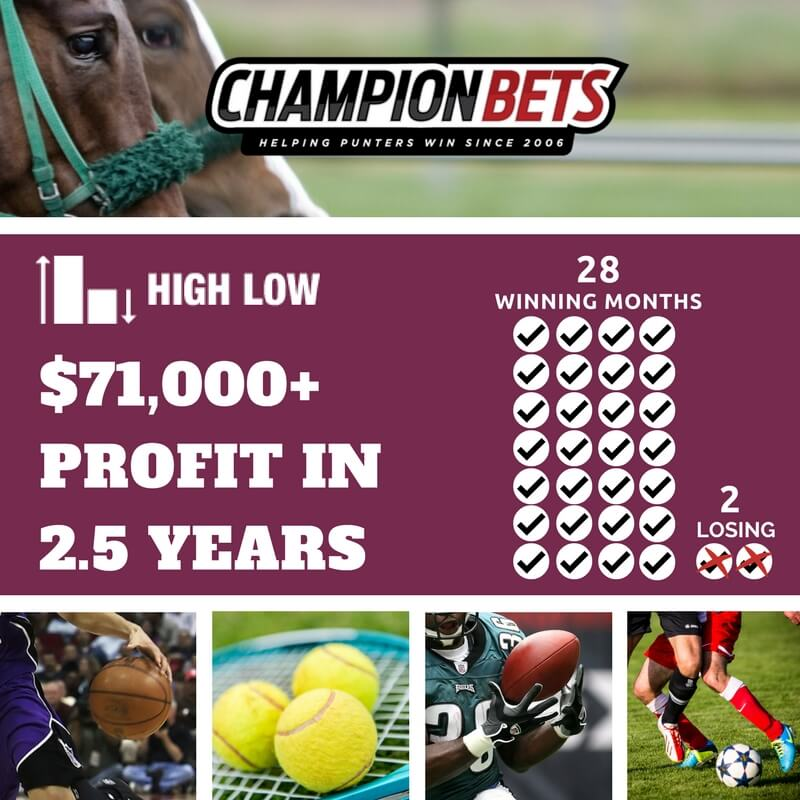 high low champion bets
