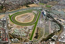 Flemington racecourse edge